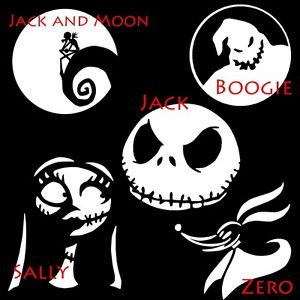 (1) Nightmare Before Christmas Decal Your Choice Car Window Vinyl Decal Sticker
