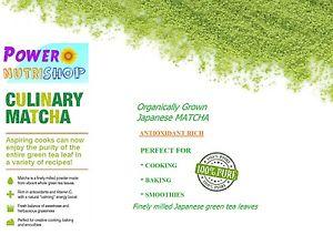 100% Organic Japanese Matcha Green Tea Powder Classic Culinary Grade,2 oz - 44lb