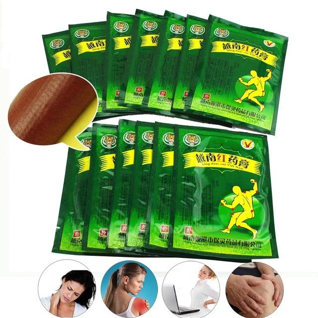 104pcs Pain Relief Patch Vietnam Red Tiger Balm Plaster Backache Muscular Pain Stiff Shoulder Cervical Joint Pain Arthritis C162