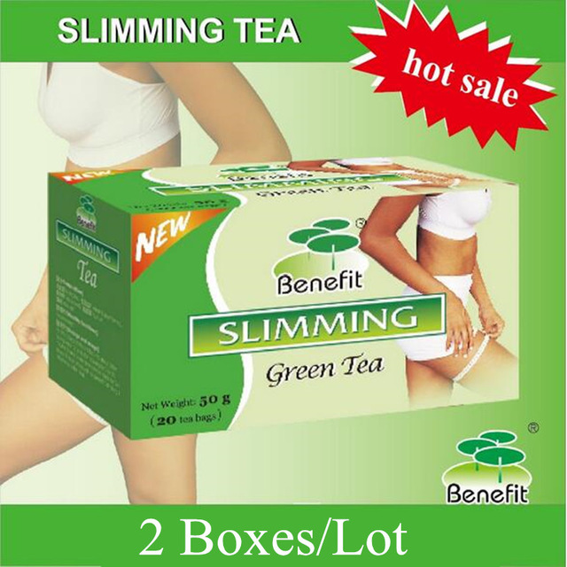 2 Boxes Benefit Slimming Tea For Weight Loss Fat Burning Herbal Remedy Natural Green Tea Blending