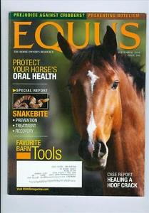 2010 Equus Magazine: Protect Your Horses Oral Health/Snakebi
