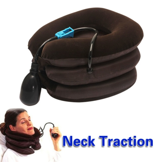 3 Layers Relax Soft Air Cervical Neck Traction Collar Relief Traction Device Headache Back Shoulder Pain Brace Mas