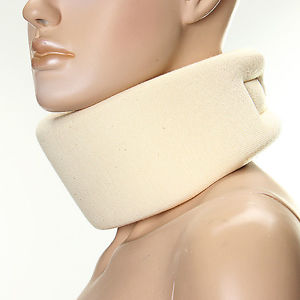 3 Sizes Cervical Collar Soft Neck Brace Support Shoulder Press Relax Relief Pain