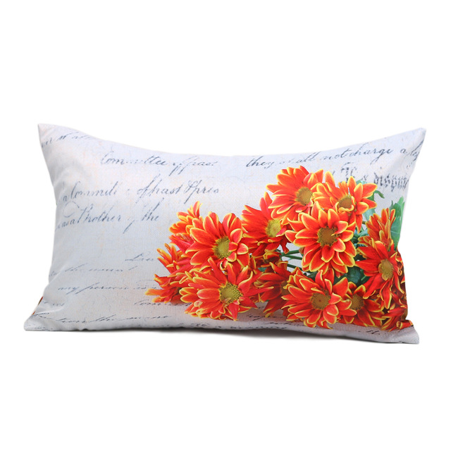 30cm*50cm Cushion Cover Decorative Pillows Cover Word and Flower Cushion Covers for Sofa Bed Pillows Decorative L0031G