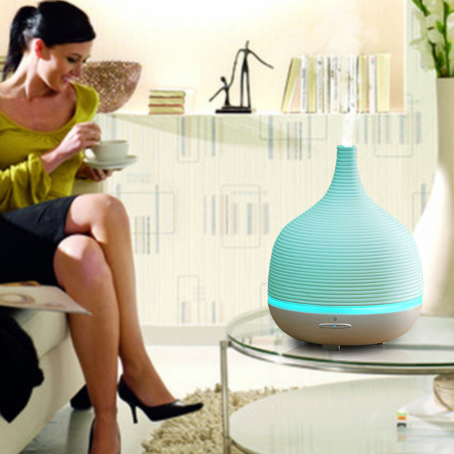 500ml Mini Ultrasonic Humidifier Essential Oil Diffuser Aroma Diffuser Mist Maker Fogger Led Portable Aromatherapy Air Purifier