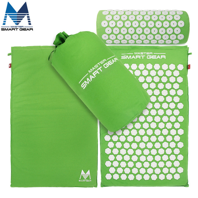 Acupressure Mat and Pillow Set Back Body Massage Relieve Stress Tension Pain Yoga Mat for Acupressure Massage & Relaxation