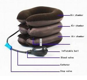 Air Cervical Neck Traction for Headache, Neck Tension and Pain Relief w/Pump NEW