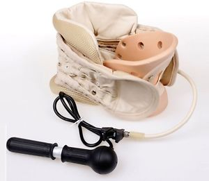Air Traction Neck Brace Decompression Cervical Collar Support Neck Pain Relief