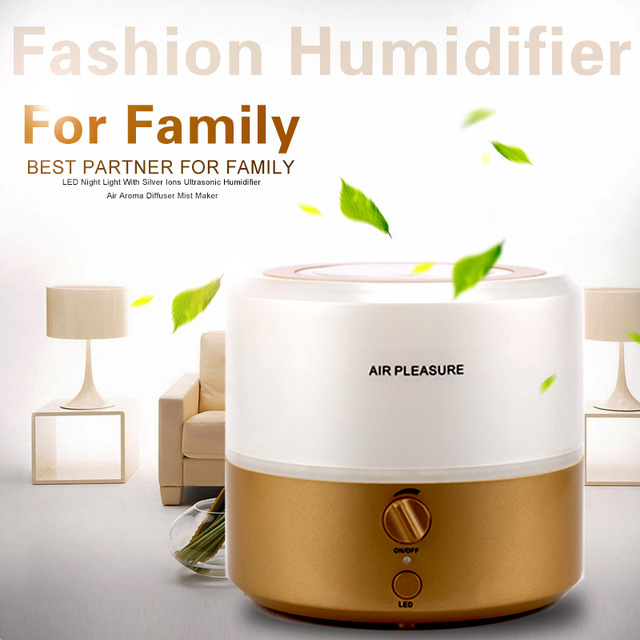 Aromatherapy Diffuser Air Humidifier LED Night Light With Silver Ions Ultrasonic Humidifier Air Aroma Diffuser Mist Maker HA-01L