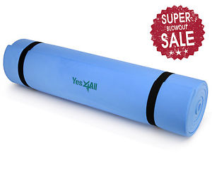"BLUE 68"" x 24"" x 1/4"" (6 mm) X-Thick Mat Pad Non Yoga exercise - ²YWH6C"