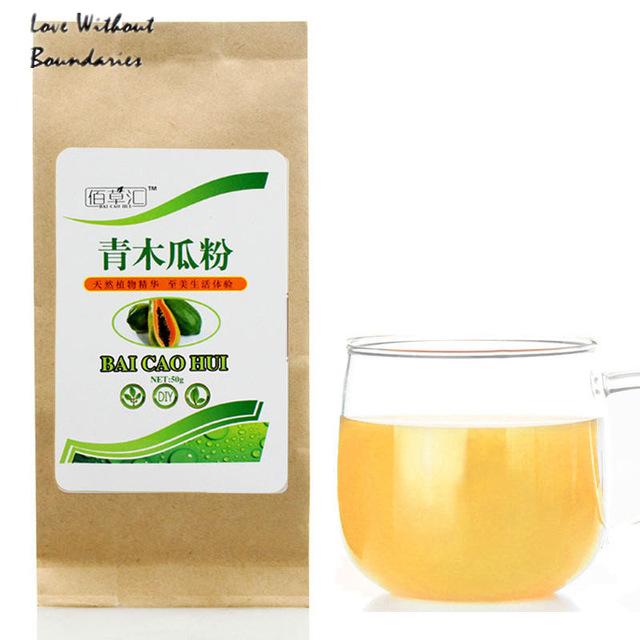 China Top Brand Green papaya powder papaya tea Natural tea powder Health benefits tea papaya