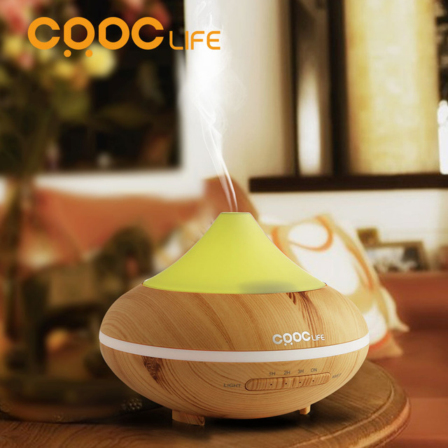 CRDC HOT Changing Color Ultrasonic Humidifier Essential Oil Diffuser Aroma Lamp Aromatherapy Electric Aroma Diffuser Mist Maker