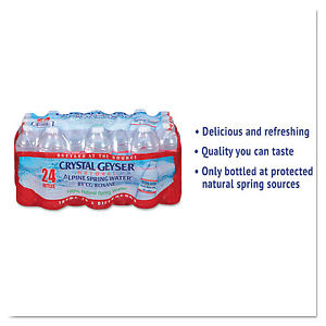 Crystal Geyser Alpine Spring Water 16.9 oz Bottle 24/Case 24514CT