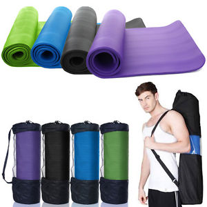 "Durable 72*24*0.4"" Yoga Mat 10mm Thick Nonslip Pad Exercise Fitness Yoga mat Bag"