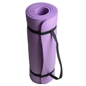 "Extra Thick 15MM 71"" x 24""x 0.6"" Yoga Mat Pad Non-Slip Purple Exercise Mat"