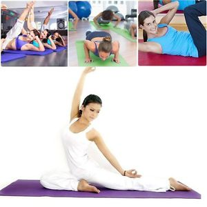 "Extra Thick Non-slip Yoga Mat Pad Exercise Fitness Pilates w/ Bag 68"" x 24"" US H"