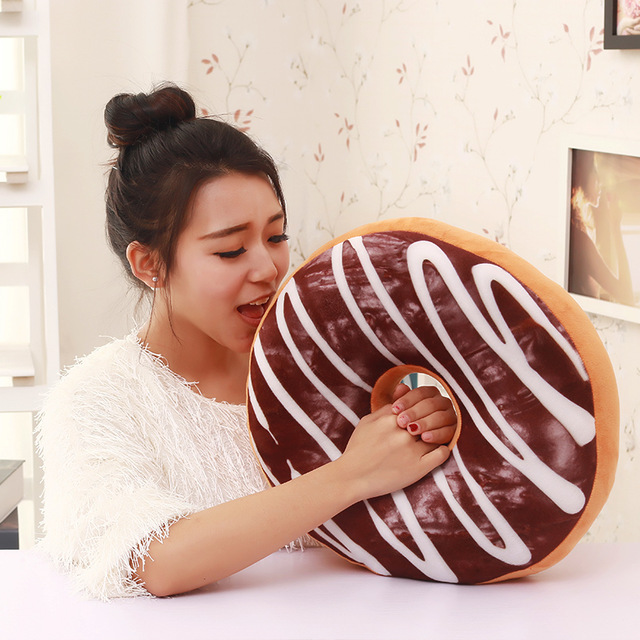 Free shipping 2016 hot sale rushed cushion coussin decoration pillows donut big thickening cushion siesta with PP cotton