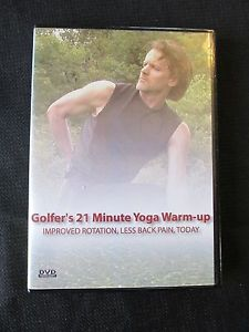 Golfer's 21 Minute Yoga Warm-up DVD Improved Rotation, Less Back Pain