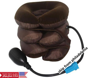 Inflatable Cervical Traction Device Relief Shoulder Back and Neck Pain portable