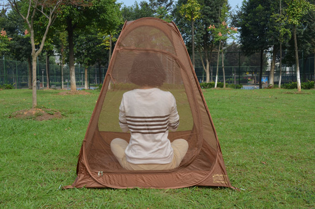 Meditation retreat mesh account / camping / meditation pop up automatic tent moisture Yoga tent mesh in portable easy carry bag