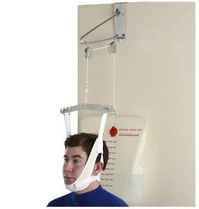 Neck Back Stretcher Over Door Cervical Traction Kit pain relief OTC NEW