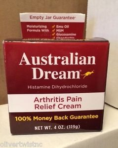 NEW Australian Dream Arthritis Pain Relief Cream 4 oz (118 g) EXP JANUARY 2019