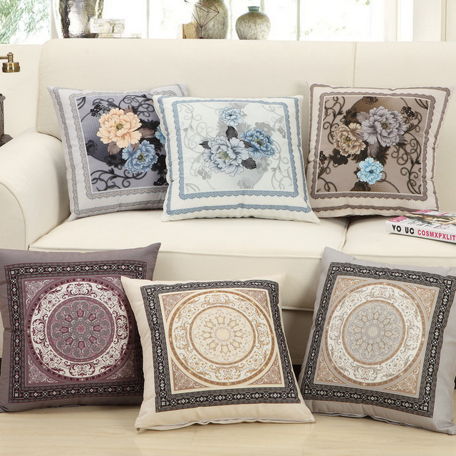 NEW hot 6 styles throw pillows Bedside sofa meditation cushion vintage pillow Free shipping A-25