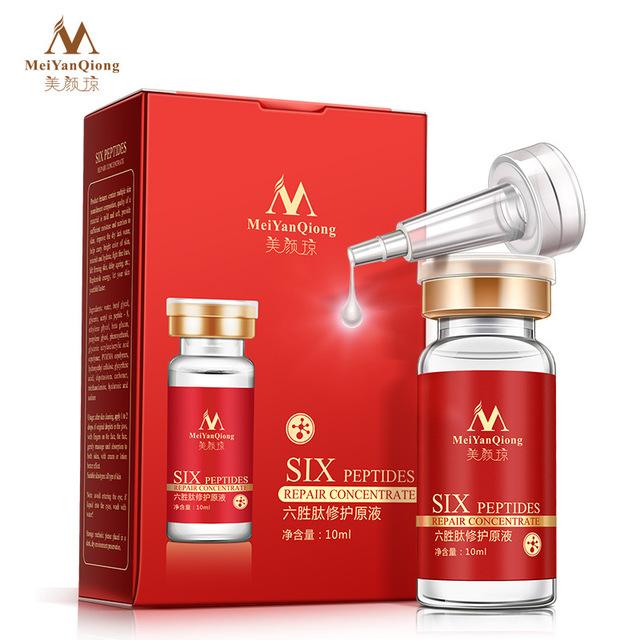 New Six Peptides Argireline+aloe vera+collagen rejuvenation anti wrinkle Serum for the face skin care products anti-aging cream