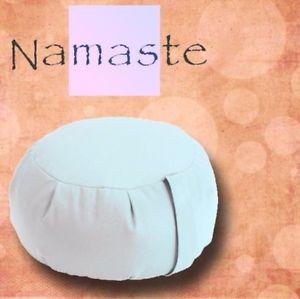 NEW - Stuffed Zafu Yoga Pillow Meditation Cushion - NATURAL IVORY - MADE in USA