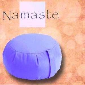 NEW - Stuffed Zafu Yoga Pillow Meditation Cushion - PERIWINKLE BLUE- MADE in USA