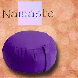 NEW - Stuffed Zafu Yoga Pillow Meditation Cushion -PURPLE- MADE in USA FREE SHIP
