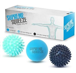 newMassage Ball Roller Set Lacrosse Spiky neck shoulders Foot Massaging Balls