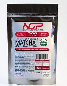 NGP - Matcha Green Tea Powder 500g (1.1lb) -100% Organically Grown in Japan
