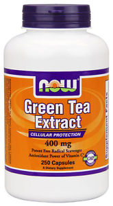 NOW Foods GREEN TEA EXTRACT 400 mg - 250 capsules - VALUE SIZE