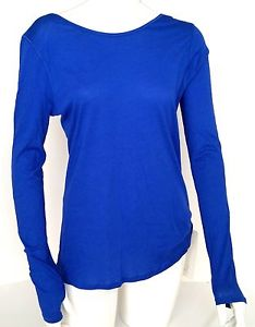 NWT Lululemon Zen Bender Long Sleeve Tee Top Size 6 Blue Yoga Dance Meditation