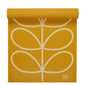 Orla Kiely Linear Stem Yoga Mat in Sunflower, 3mm, NIP Target Gym Workout