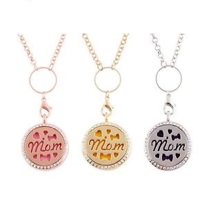 Perfume Fragrance Essential Oil Aromatherapy Diffuser Locket Necklace Mom's Gift