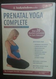Prenatal Yoga Complete Interactive Personal Trainer~ Morning Sickness Back Pain