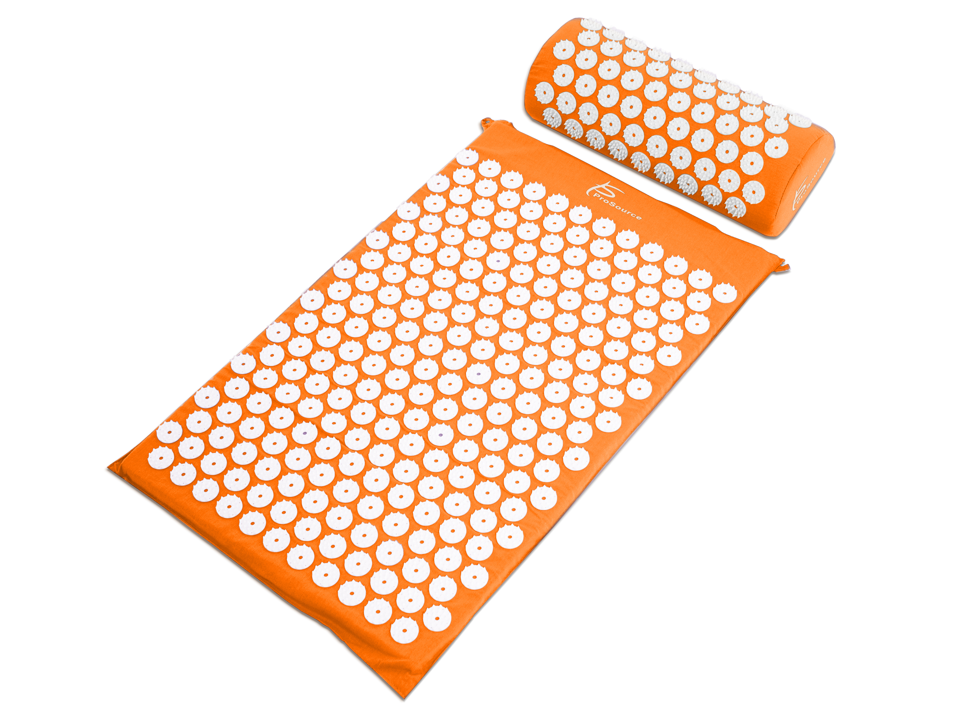 ProSource Acupressure Mat Pillow Back Neck Pain Relief Muscle Relaxation Orange