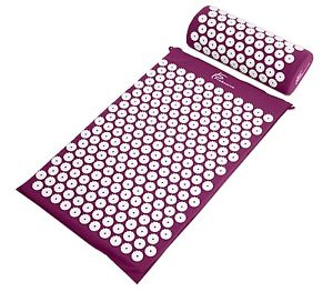 ProSource Acupressure Mat Pillow Back Neck Pain Relief Muscle Relaxation Purple