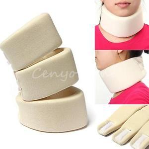 Soft Neck Brace Beige Cervical Collar Support Shoulder Press Relax Pain Relief
