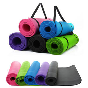 "Thick Non-Slip Yoga Mat Gym Pad Exercise Physio Pilates Fitness Blanket 72""X 24"""