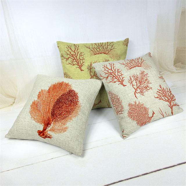 Tropic Tree Cushion Cover Cotton Linen Throw Pillow Cover Cushion Case Sofa Bed Decorative Pillows