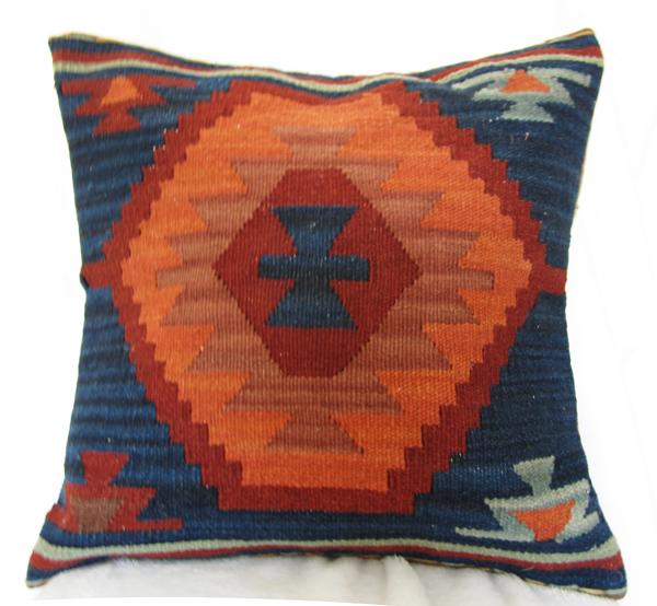 Wool hand-woven Kilim cushion exotic ethnic pillow Pakistan India wind lumbar lumbar pillow