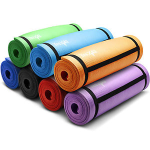 Yes4All Extra Thick High Density Premium Yoga Mat Durable Exercise - Strap