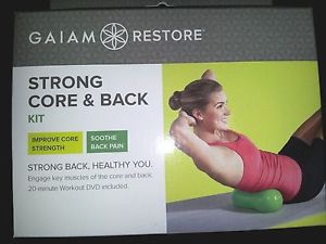 YOGA GAIAM Restore Strong Core & Back kit + 20 min workout DVD soothe back pain