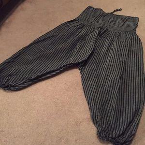 Yoga Pants from Nepal 100% Cotton Hippy Thailand Pilates Meditation Hippie 60's