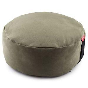 Zafu Meditation Yoga Buckwheat Filled Cotton Bolster Pillow Cushion 2278