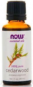 Cedarwood Oil, NOW Essential Oils 100% Pure, 1 fl. oz (30 ml) Aromatherapy