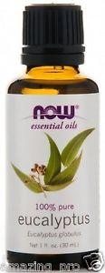 Eucalyptus Oil, NOW Essential Oils 100% Pure, 1 fl. oz (30 ml) Aromatherapy
